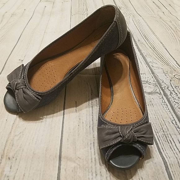 Clarks Shoes | Clarks Peep Toe Leather